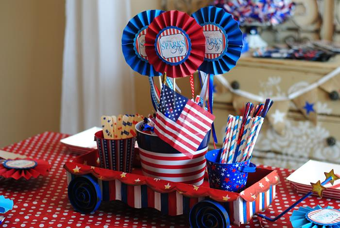 Karas Party Ideas Red White Blue July 4th Party Planning Ideas Cake
