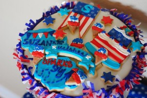Red White and Celebrate 4th of July Birthday Party via Kara's Party Ideas | Kara'sPartyIdeas.com #Party Supplies #Red #White #Blue #party #planning (13)