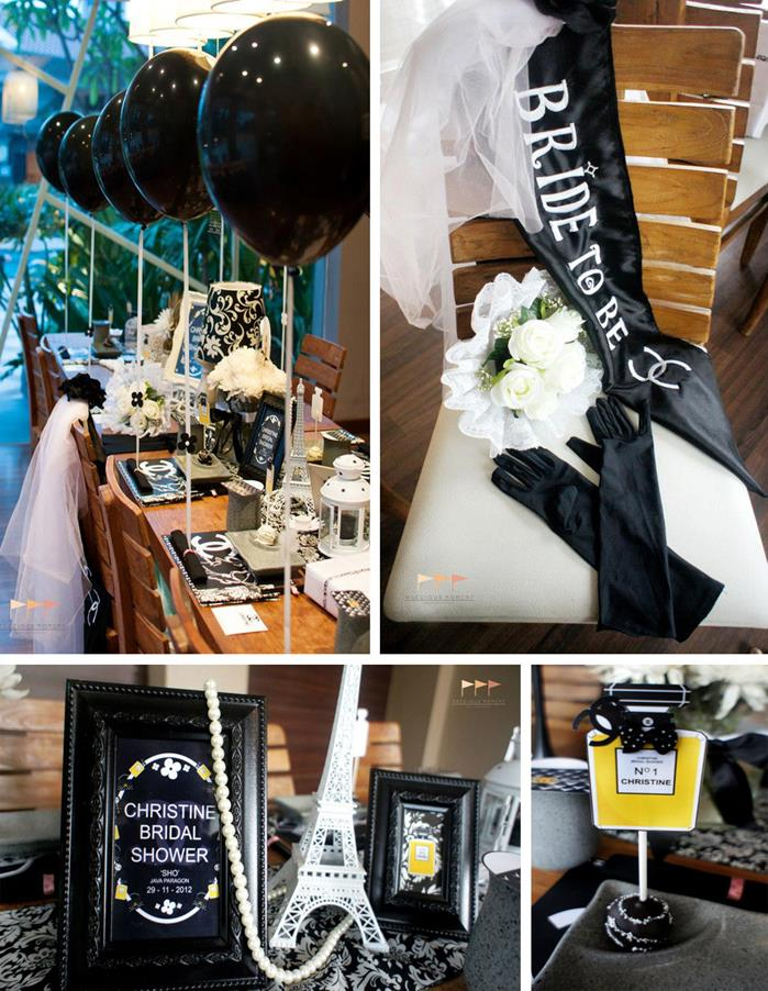 chanel bridal shower via karas party ideas planning idea decorations tween