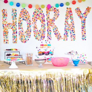Confetti Birthday Bash via Kara's Party Ideas | Kara'sPartyIdeas.com #birthday #party #planning #ideas #decorations (14)