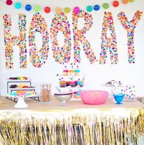 Confetti Birthday Bash via Kara's Party Ideas | Kara'sPartyIdeas.com #birthday #party #planning #ideas #decorations (14)