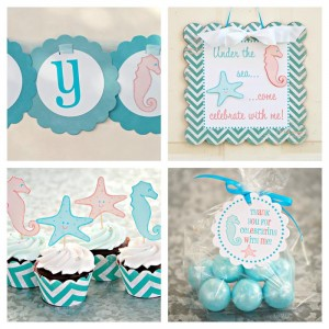 Under the Sea Party via Kara's Party Ideas #UnderTheSea #ocean #party #decorations #idea (9)