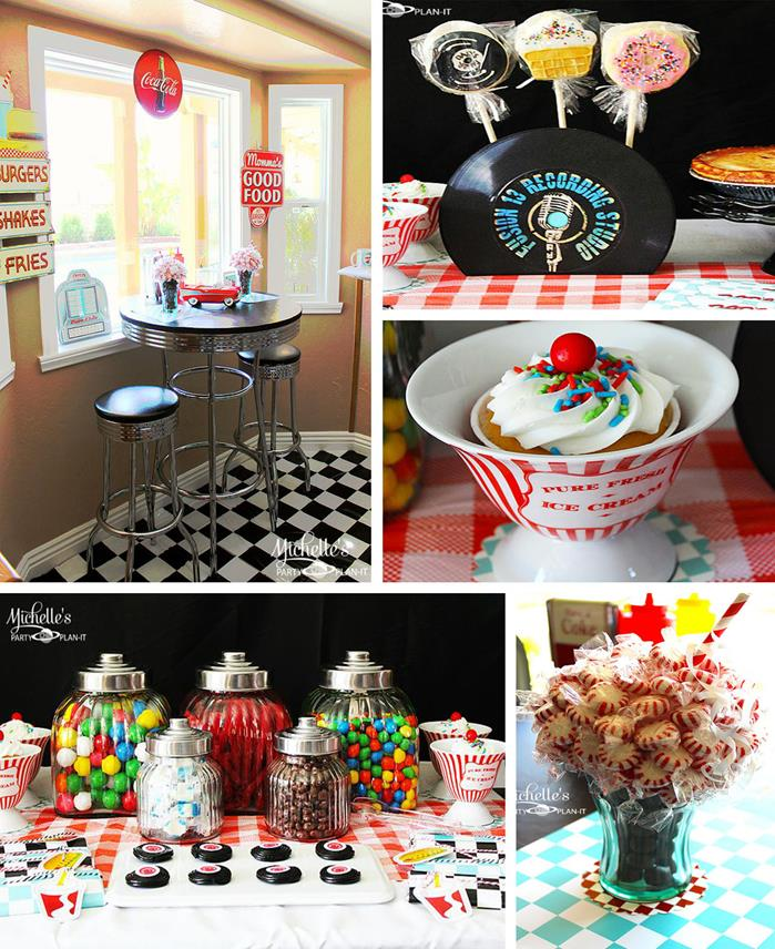 Kara's Party Ideas 1950's Diner Party with SO MANY cute ...