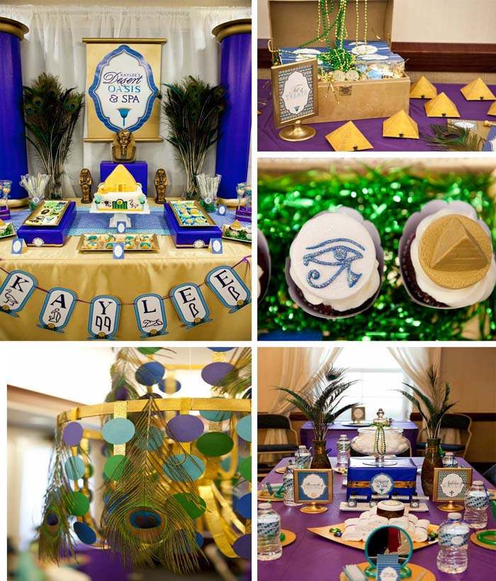 Karas party ideas egyptian birthday party planning ideas cake egyptian spa party planning ideas supplies decorations ideas junglespirit Images