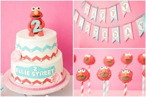 Pink Elmo Party #planning #idea #SesameStreet #decorations #pink (9)