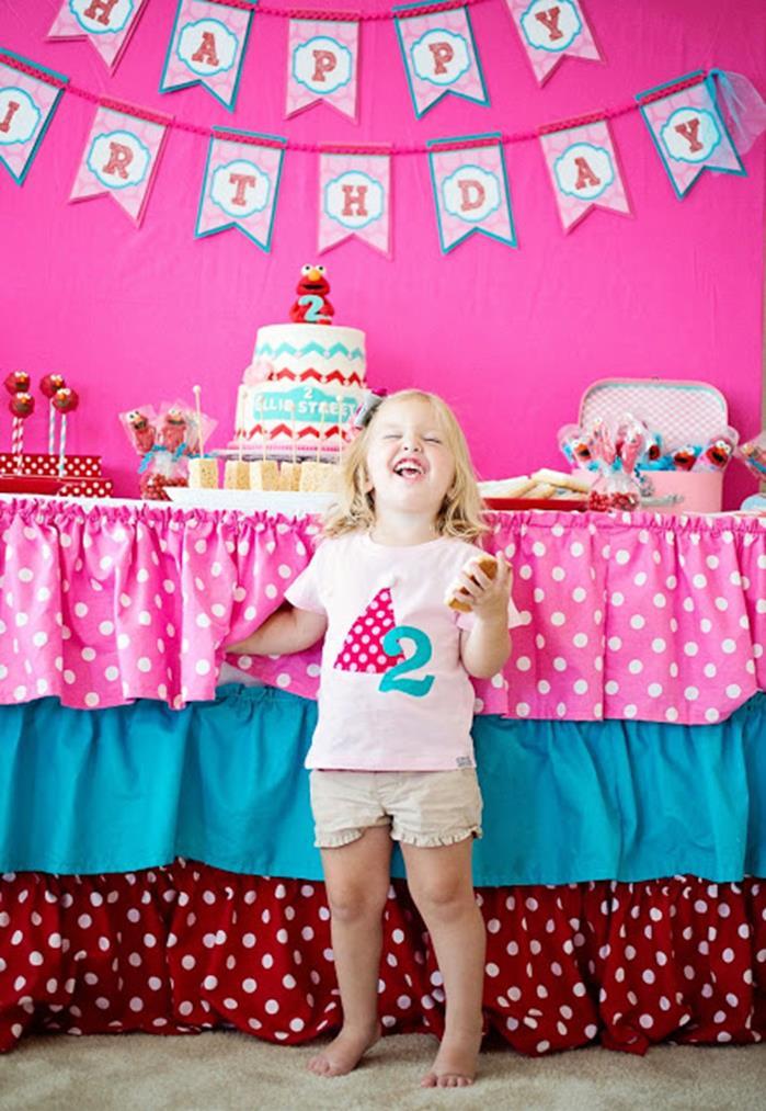 Pink Elmo Party Planning Idea SesameStreet Decorations 3