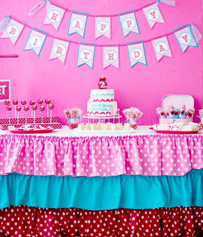 Pink Elmo Party Planning Idea SesameStreet Decorations 20