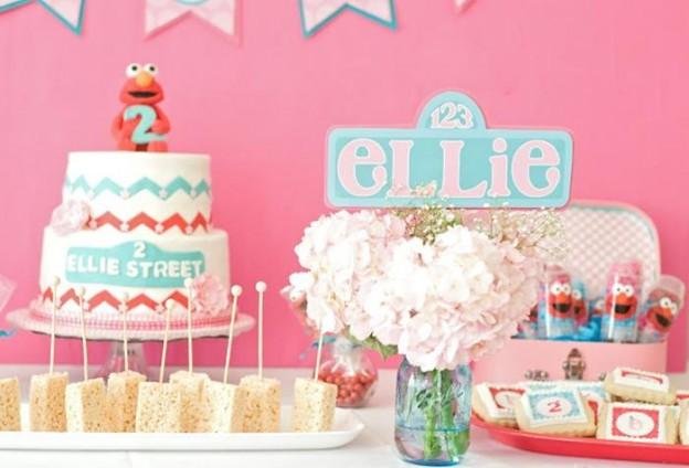 Pink Elmo Party Planning Idea SesameStreet Decorations 19