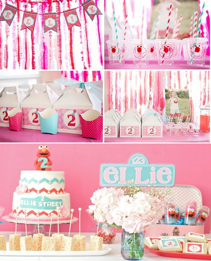 Kara 39 s party ideas girly elmo birthday party with lots of for Event planning ideas parties