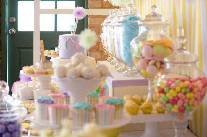 kara u0026 39 s party ideas fairyfloss cotton candy baby shower via