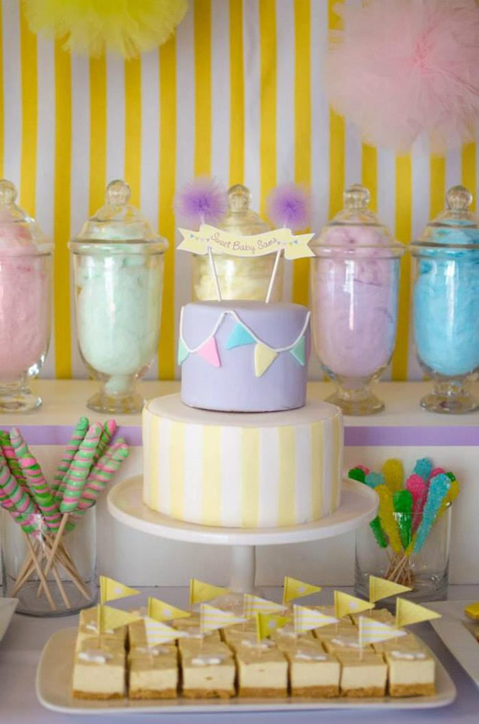 Kara S Party Ideas Fairyfloss Cotton Candy Baby Shower Via