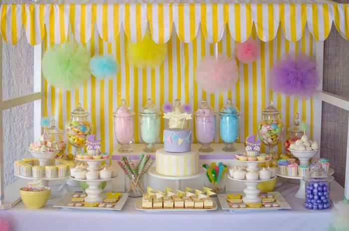 Fairyfloss Cotton Candy Baby Shower Via Karau0027s Party Ideas |  Karau0027sPartyIdeas.com #