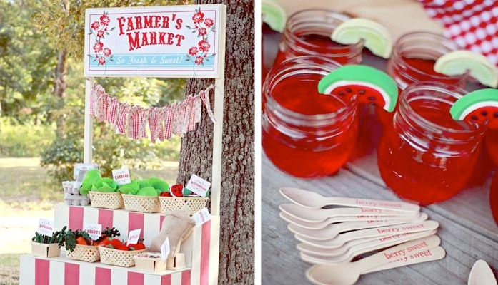 Kara S Party Ideas Farmer S Market Birthday Party Supplies