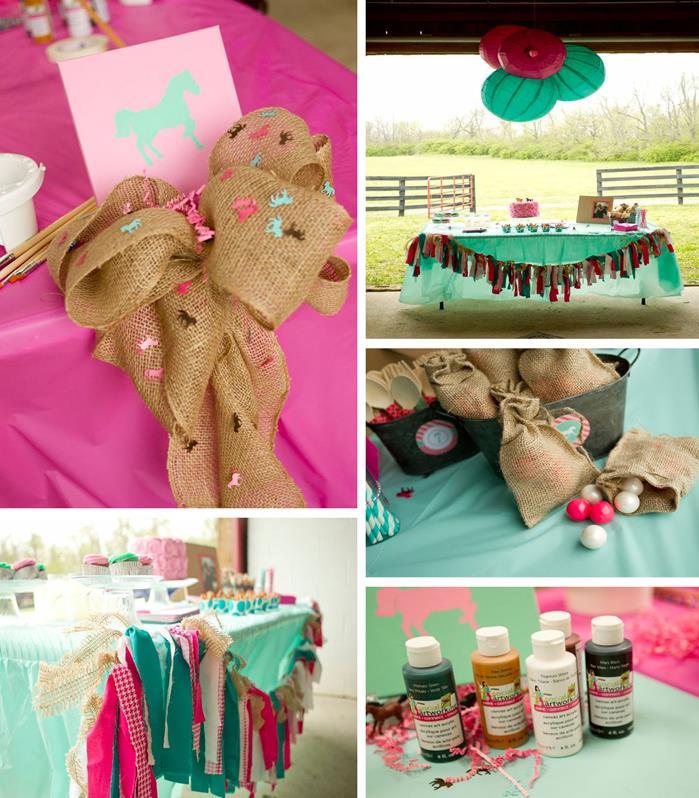 Kara S Party Ideas Horse Art Birthday Party With A Lot Of Cute Ideas Via Kara S Party Ideas