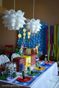 Super Mario Brothers Birthday Party #planning #ideas #decorations #cake #idea (36)