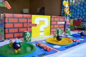 Super Mario Brothers Birthday Party #planning #ideas #decorations #cake #idea (33)