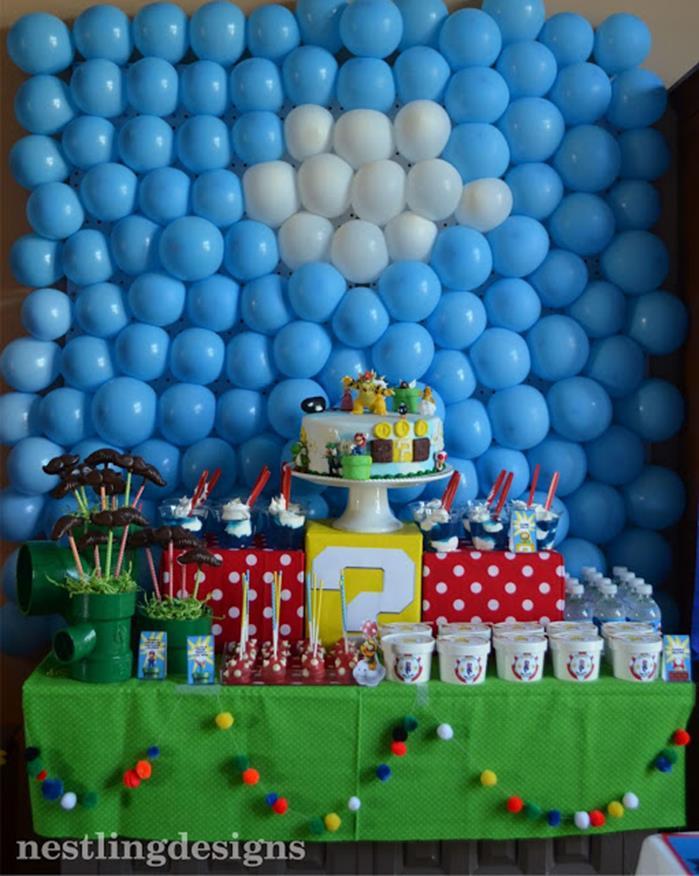 Kara 39 s party ideas super mario birthday party via kara 39 s for Mario decorations