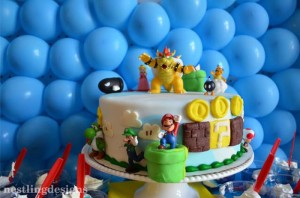 Super Mario Brothers Birthday Party #planning #ideas #decorations #cake #idea (11)