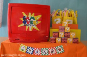Super Mario Brothers Birthday Party #planning #ideas #decorations #cake #idea (10)