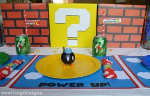 Super Mario Brothers Birthday Party #planning #ideas #decorations #cake #idea (44)