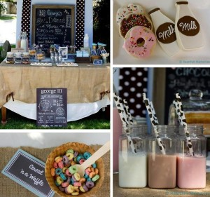 Milk & Doughnuts Party via Kara's Party Ideas #MilkAndDoughnuts #birthday #party #planning #idea #decorations