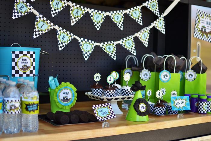 Kara S Party Ideas 187 Monster Truck Birthday Party Via Kara