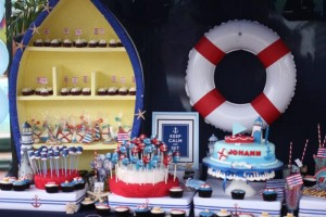 Nautical Themed Party via Kara's Party Ideas | Kara'sPartyIdeas.com #Nautical #Boat #Sailor #Party #Idea #Supplies (33)