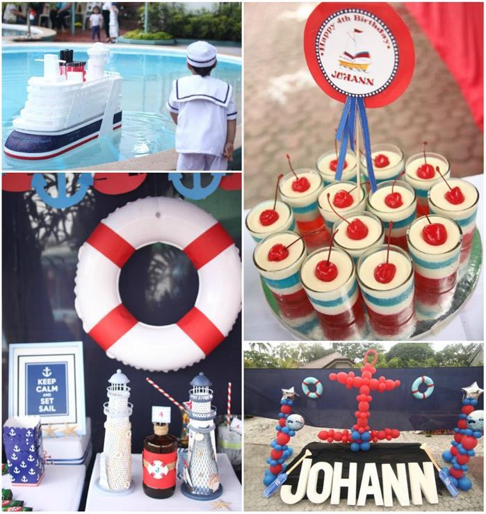 Kara S Party Ideas 187 Nautical Themed Party With So Many