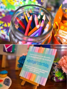 Pantone Art Birthday Party via Kara's Party Ideas | Kara'sPartyIdeas.com #Art #Party #Ideas #Supplies (32)
