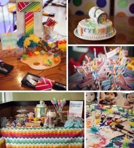 Pantone Art Birthday Party with SO MANY CUTE IDEAS via Kara's Party Ideas | Kara'sPartyIdeas.com #Art #Party #Ideas #Supplies (1)