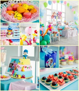 Girly Pocoyo Party with LOTS of CUTE Ideas via Kara's Party Ideas | Kara'sPartyIdeas.com #Girly #Pocoyo #Party #Planning #Idea #Decorations (33)