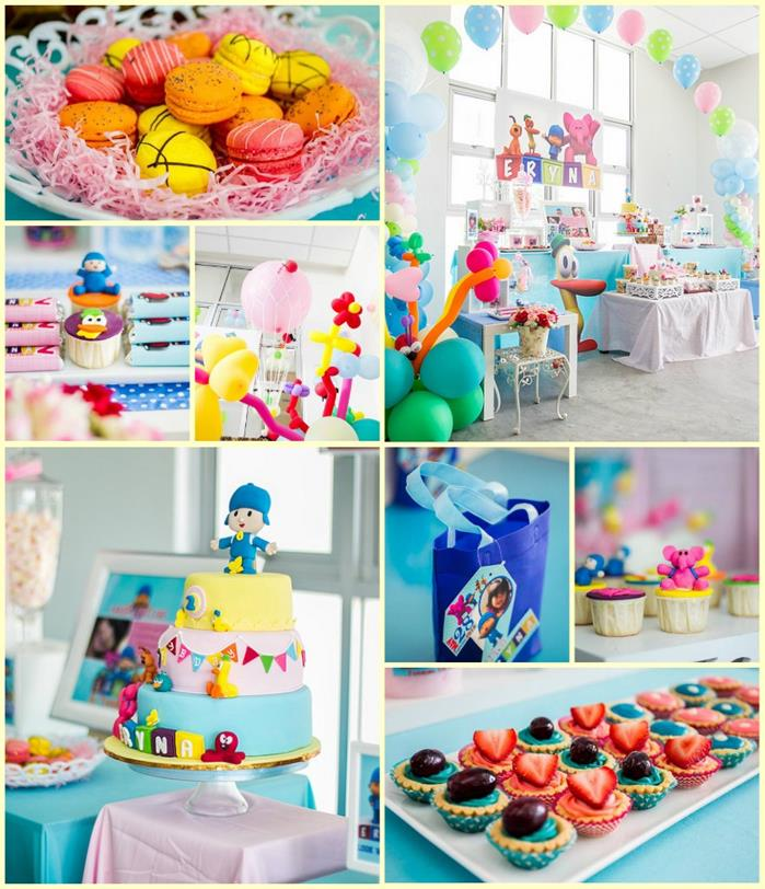 Kara 39 s party ideas girly pocoyo party with so many ideas for 2nd birthday party decoration