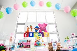 Girly Pocoyo Party via Kara's Party Ideas | Kara'sPartyIdeas.com #Girly #Pocoyo #Party #Planning #Idea #Decorations (21)