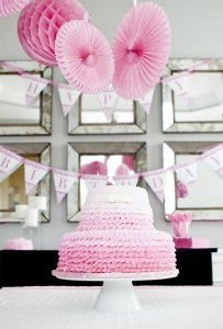 #pink #party #idea #girl #1st #deorations (22)