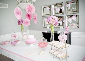 #pink #party #idea #girl #1st #deorations (15)