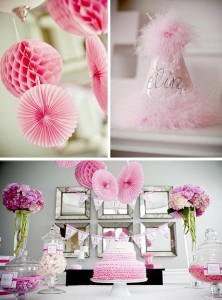 #pink #party #idea #girl #1st #deorations (1)