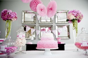 #pink #party #idea #girl #1st #deorations (25)