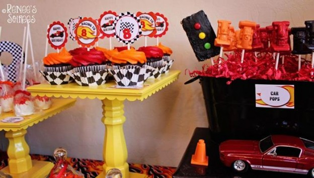 Race Car Birthday Party via Kara's Party Ideas | Kara'sPartyIdeas.com #RaceCar #Party Idea #boy #decorations (2)