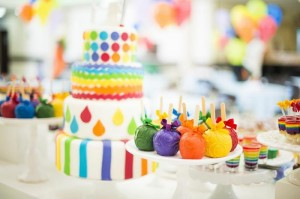 Rainbow Birthday Party via Kara's Party Ideas | Kara'sPartyIdeas.com #Rainbow #Party #Ideas #Birthday #Planning #Supplies (41)