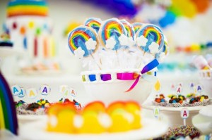 Rainbow Birthday Party via Kara's Party Ideas | Kara'sPartyIdeas.com #Rainbow #Party #Ideas #Birthday #Planning #Supplies (36)