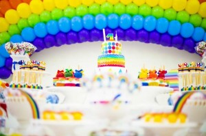 Rainbow Birthday Party via Kara's Party Ideas | Kara'sPartyIdeas.com #Rainbow #Party #Ideas #Birthday #Planning #Supplies (33)