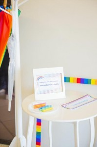 Rainbow Birthday Party via Kara's Party Ideas | Kara'sPartyIdeas.com #Rainbow #Party #Ideas #Birthday #Planning #Supplies (30)