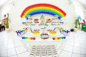 Rainbow Birthday Party via Kara's Party Ideas | Kara'sPartyIdeas.com #Rainbow #Party #Ideas #Birthday #Planning #Supplies (27)