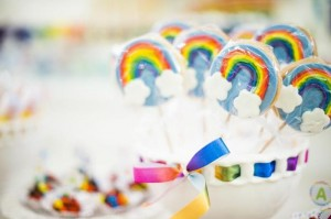 Rainbow Birthday Party via Kara's Party Ideas | Kara'sPartyIdeas.com #Rainbow #Party #Ideas #Birthday #Planning #Supplies (24)