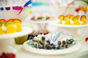 Rainbow Birthday Party via Kara's Party Ideas | Kara'sPartyIdeas.com #Rainbow #Party #Ideas #Birthday #Planning #Supplies (18)