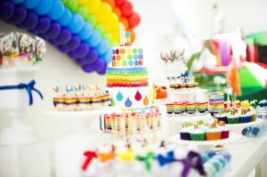 Rainbow Birthday Party via Kara's Party Ideas | Kara'sPartyIdeas.com #Rainbow #Party #Ideas #Birthday #Planning #Supplies (16)