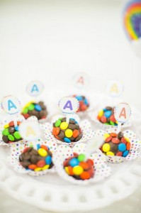 Rainbow Birthday Party via Kara's Party Ideas | Kara'sPartyIdeas.com #Rainbow #Party #Ideas #Birthday #Planning #Supplies (15)