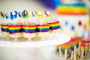 Rainbow Birthday Party via Kara's Party Ideas | Kara'sPartyIdeas.com #Rainbow #Party #Ideas #Birthday #Planning #Supplies (14)