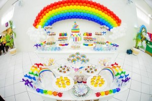 Rainbow Birthday Party via Kara's Party Ideas | Kara'sPartyIdeas.com #Rainbow #Party #Ideas #Birthday #Planning #Supplies (13)