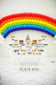 Rainbow Birthday Party via Kara's Party Ideas | Kara'sPartyIdeas.com #Rainbow #Party #Ideas #Birthday #Planning #Supplies (39)